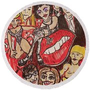 The Rocky Horror Picture Show Round Beach Towel