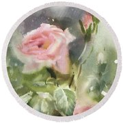 The Rose From A Misty Appalachia Round Beach Towel