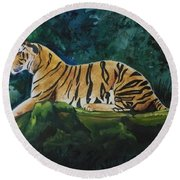 The Royal Bengal Tiger Round Beach Towel