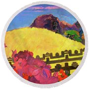 The Sacred Mountain - Digital Remastered Edition Round Beach Towel