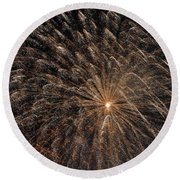 The Saint Louis Missouri 4 Of July Fireworks Round Beach Towel