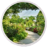 The Scent Of Monet Round Beach Towel