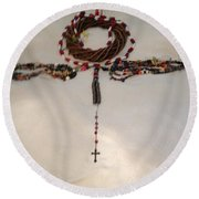 The September 11th Rosary One Round Beach Towel