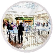The Shopping Centre Round Beach Towel