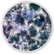 The Silent Blue Decay Round Beach Towel