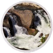 The Sinks In Smoky Mountain National Park Round Beach Towel