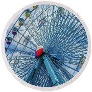 The Texas Star, State Fair Of Texas Round Beach Towel by Robert Bellomy