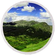 The Top Of Independence Pass Round Beach Towel