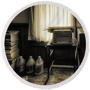 The Typewriter Round Beach Towel