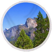 The Valley Of Inspiration-yosemite Round Beach Towel