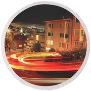 There's Magic In The Night Round Beach Towel