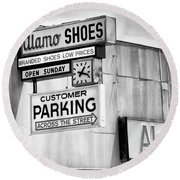These Shoes Alamo Shoes Round Beach Towel
