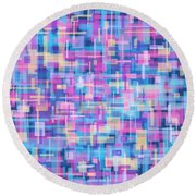 Thought Patterns #5 Round Beach Towel
