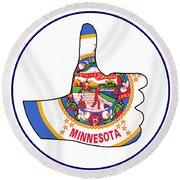 Thumbs Up Minnesota Round Beach Towel