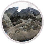 Tidal Pool 3 Round Beach Towel by Megan Dirsa-DuBois