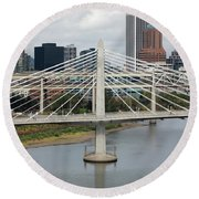 Tilikum Crossing, Portland, Oregon, Usa Round Beach Towel