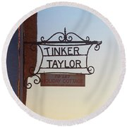 Tinker Taylor Sign Round Beach Towel