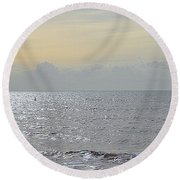 To See The Sea Round Beach Towel