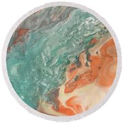 Toes In The Sand Round Beach Towel