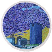 Toledo, Ohio Round Beach Towel