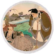 Top Quality Art - Matsuo Basho Round Beach Towel