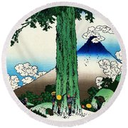 Top Quality Art - Mt,fuji36view-koshu Mishimagoe Round Beach Towel