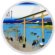 Top Quality Art - Mt,fuji36view-nobotonoura Round Beach Towel