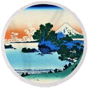 Top Quality Art - Mt,fuji36view-soshu Shichirigahama Round Beach Towel
