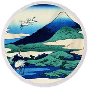 Top Quality Art - Mt,fuji36view-soshu Umezawanosho Round Beach Towel