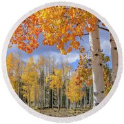 Touch Of Fall Round Beach Towel
