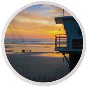 Tower 19, Office With A View Round Beach Towel