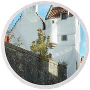 towerhouse and turret at Culross Round Beach Towel