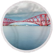 Train Bridge - Forth Of Fifth Round Beach Towel