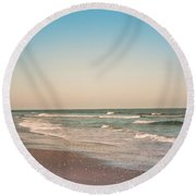 Tranquil Waves Round Beach Towel