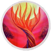 Trapped Moon Round Beach Towel
