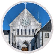 Trappist Monastery Of The Holy Spirit  Round Beach Towel