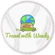 Travel With Wendy Round Beach Towel
