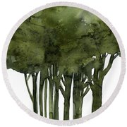 Tree Impressions 1b Round Beach Towel