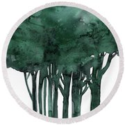 Tree Impressions 1d Round Beach Towel