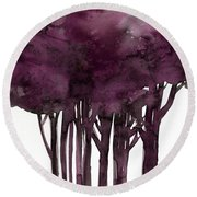Tree Impressions 1j Round Beach Towel