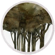 Tree Impressions No. 1a Round Beach Towel
