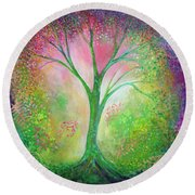Tree Of Tranquility Round Beach Towel