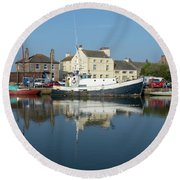 Trefusis Gy242 At Glasson Dock Round Beach Towel