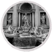 Trevi Fountain - Fontana Di Trevi Round Beach Towel