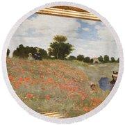 Tribute To Claude Monet Round Beach Towel