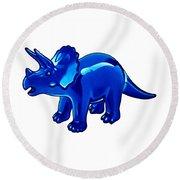 Triceratops Cartoon Round Beach Towel