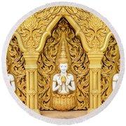 Triple Buddhas, Thailand Round Beach Towel