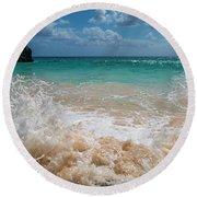 Tropical Fantastic View Round Beach Towel