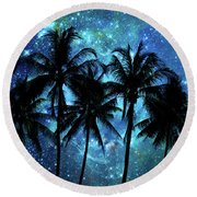 Tropical Night Round Beach Towel