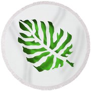 Tropical Round Beach Towel by Phyllis Howard